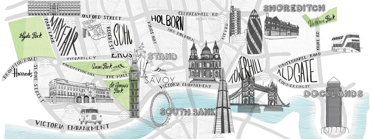 V2 london land marks