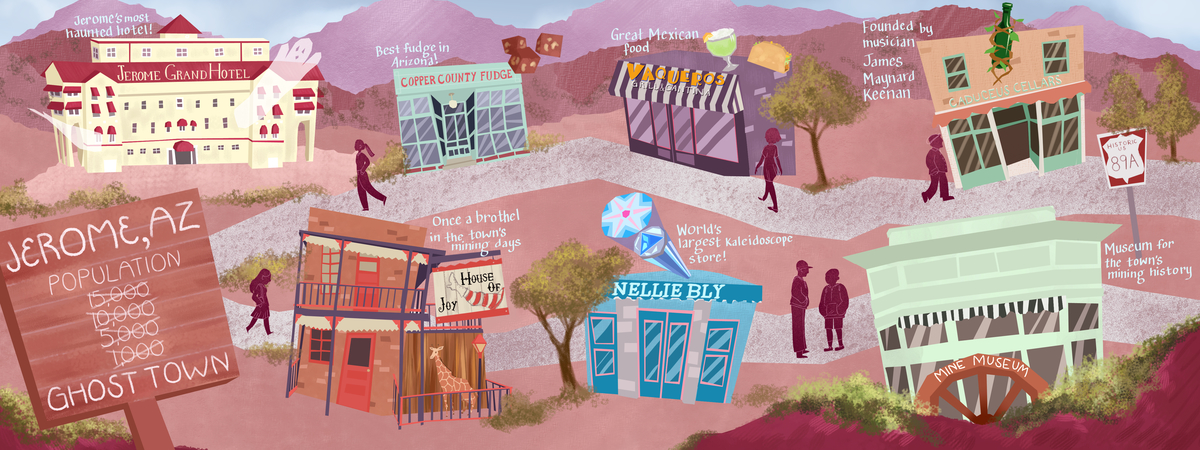 Map Of Arizona Including Jerome.Favorite Spots In Jerome Arizona By Lauren Heath They Draw Travel