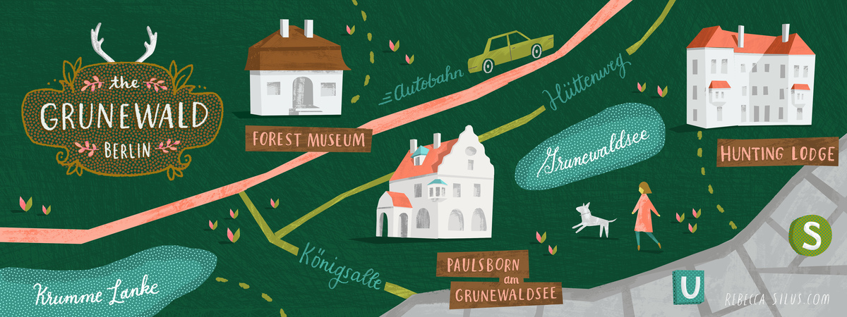 Rebecca silus  illustrated map of berlin grunewald