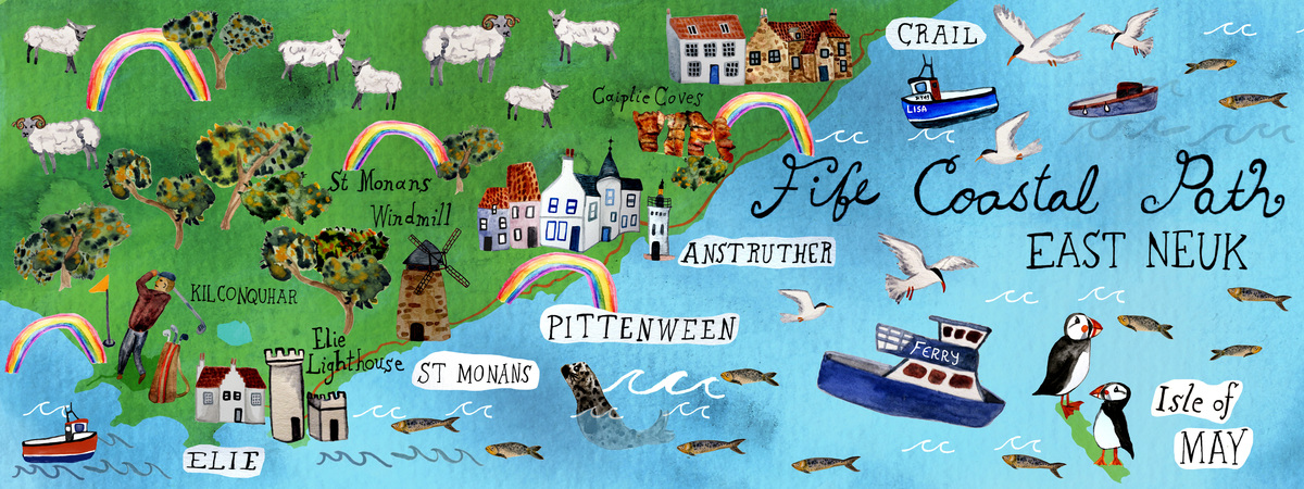 Fife coastal trail map tdat