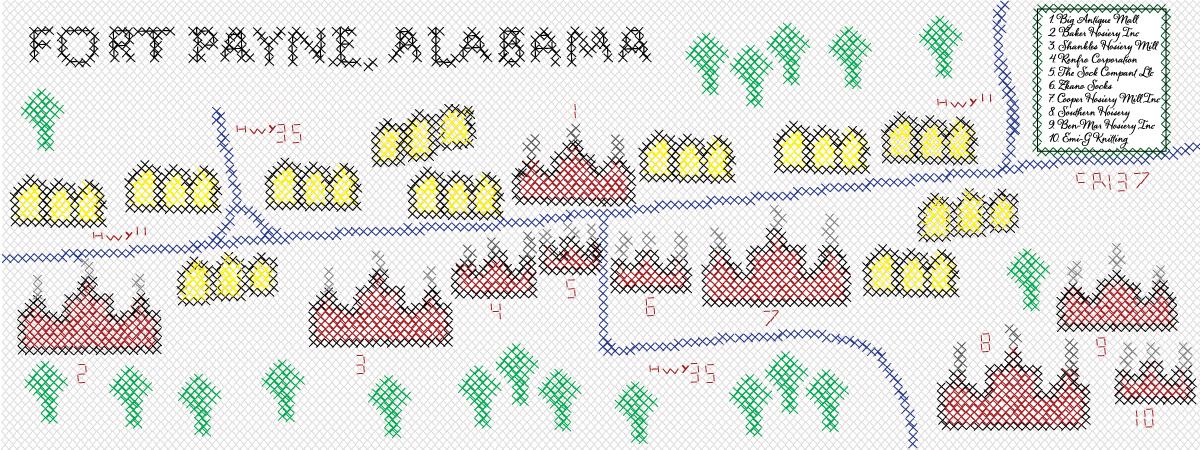 P oliver fort payne map