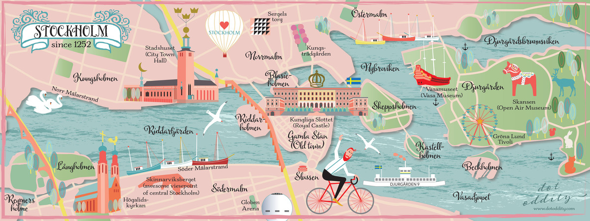 Stockholm Sweden since 1252 by Dot Oddity They Draw Travel